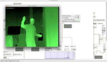 Kinect 3D Controllable DJ/VJ Effector