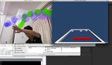 "Breakout game with ""Unity"" + ""Kinect"""